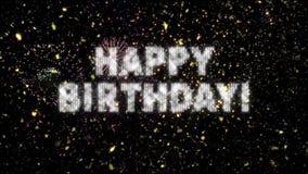 Confetes & fogos-de-artifício do feliz aniversario ilustração stock