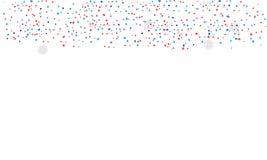 Confetes isolados ilustração stock