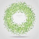 Confetes quadrados verdes Fotos de Stock Royalty Free