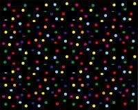 Confetes que vibram para baixo em um fundo preto ilustração do vetor
