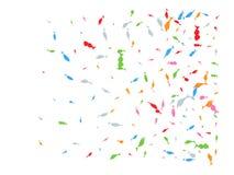 Confetes tirados mão coloridos dos peixes criativos ilustração royalty free