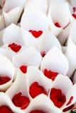Confetes vermelhos Fotos de Stock