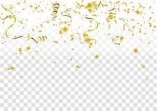 Confeti abstracto del oro de la celebración del fondo Fondo del vector ilustración del vector