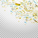 Confeti brillante colorido aislado en fondo transparente Ilustración festiva Fotografía de archivo