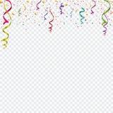 Confeti coloreado aislado en un fondo celular ejemplo festivo del vector Foto de archivo