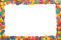 Confeti colorido Fotos de archivo