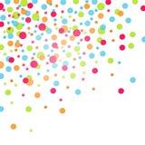 Confeti colorido Foto de archivo libre de regalías