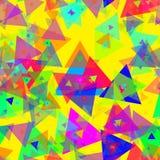 Confeti colorido de la celebración del triángulo Foto de archivo libre de regalías