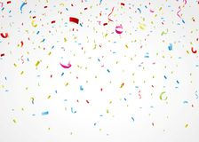 Confeti colorido en el fondo blanco Foto de archivo