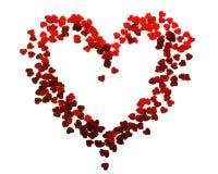 Confeti de corazones imagen de archivo libre de regalías