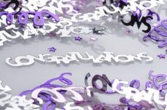 Confeti de la enhorabuena Fotografía de archivo libre de regalías