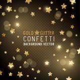 Confeti de la estrella del oro Foto de archivo libre de regalías