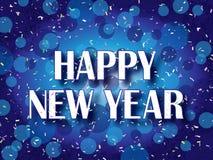 Confeti de la Feliz Año Nuevo Fotos de archivo