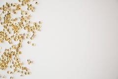 Confeti de la tachuela del oro Imagen de archivo