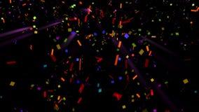 Confeti de las mariposas para sus proyectos del partido o del día de fiesta almacen de metraje de vídeo