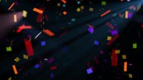 Confeti de las mariposas para sus proyectos del partido o del día de fiesta almacen de video