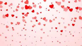Confeti de los corazones Fondo del corazón para el cartel del diseño, casandose la invitación, día de madres, día de tarjetas del stock de ilustración