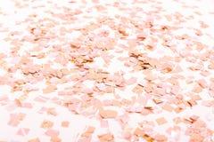 Confeti de oro en piso después del partido Imagen de archivo