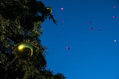 Confeti del Año Nuevo del día de fiesta Fotografía de archivo libre de regalías