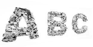 Confeti del ABC Imagenes de archivo