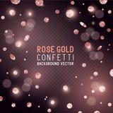 Confeti del brillo de Rose Gold Foto de archivo libre de regalías