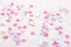 Confeti del corazón Foto de archivo libre de regalías