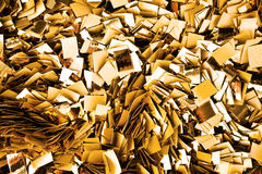 Confeti del oro Imagen de archivo libre de regalías