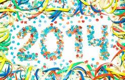 Confeti del texto del carnaval 2014 Imagen de archivo libre de regalías