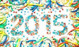 Confeti del texto del carnaval 2015 Foto de archivo