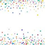 Confeti denso de la acuarela en el fondo blanco stock de ilustración