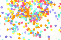 Confeti en blanco Foto de archivo libre de regalías