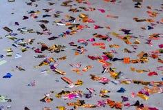 Confeti en el piso Imagen de archivo libre de regalías