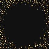 Confeti escaso del oro Foto de archivo libre de regalías