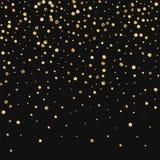 Confeti escaso del oro Fotos de archivo