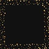 Confeti escaso del oro Fotografía de archivo