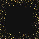 Confeti escaso del oro Imagenes de archivo