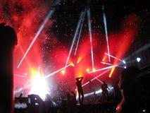 Confeti final en el concierto de Kent en Operatacket, Oslo, 2012 fotografía de archivo