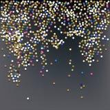Confeti, fondo del vector de la celebración del ` s del Año Nuevo Imágenes de archivo libres de regalías