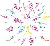 Confeti (fondo ligero) Foto de archivo libre de regalías