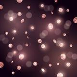 Confeti grande del brillo de Rose Gold Fotografía de archivo libre de regalías