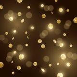 Confeti grande del brillo del oro Foto de archivo libre de regalías