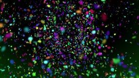 Confeti 1 lazo video colorido del fondo de los puntos de papel de //que cae 1080p libre illustration