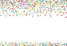 Confeti multicolor Elemento decorativo festivo para las tarjetas de felicitación, banderas stock de ilustración