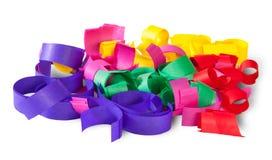 Confeti multicolor Serpentine From Paper Imagen de archivo libre de regalías