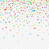 Confeti que cae en fondo a cuadros decoración del día de fiesta del partido de la celebración stock de ilustración