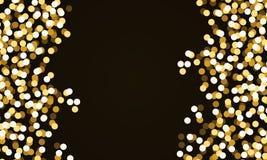 Confeti redondo del brillo del oro ilustración del vector