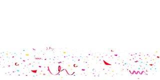 Confeti rojo brillante del brillo que cae, celebración de las estrellas, serpentina Vuelo de papel de la dispersión del confeti c libre illustration