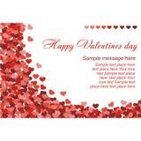 Confeti rojo de los corazones en el fondo blanco stock de ilustración