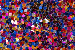 Confeti Varicolored como textura del fondo Fotos de archivo