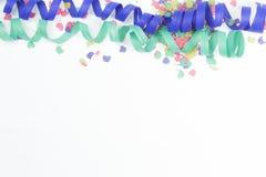 Confeti y flámulas Fotos de archivo